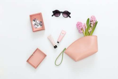 Set Of Women Accessories In Pink Colour