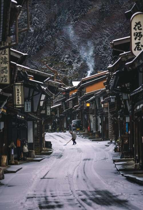 Japanese street village