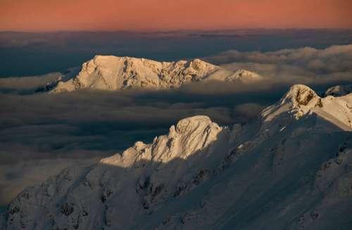 Calm mountains landscape