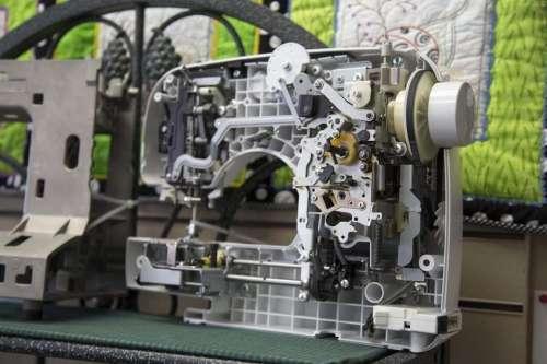 sewing machine thread  stitching model internal view