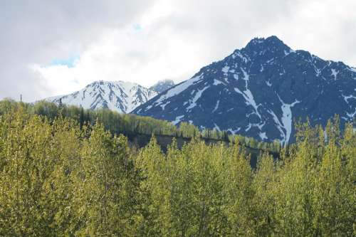 Alaskan Mountains scenery landscape