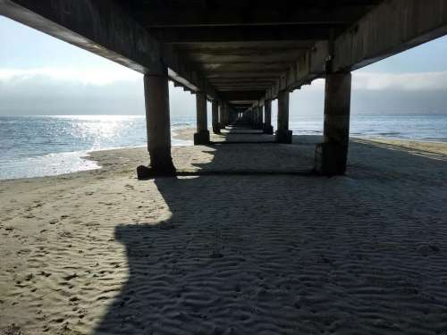 Boardwalk sea beach infinity pier
