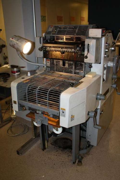 press offset printing printer pressroom