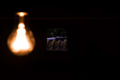 linght bulb old window dark
