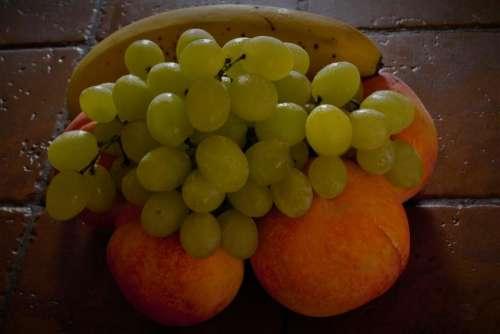 Fruits Grapes Peaches Bananas Delicious