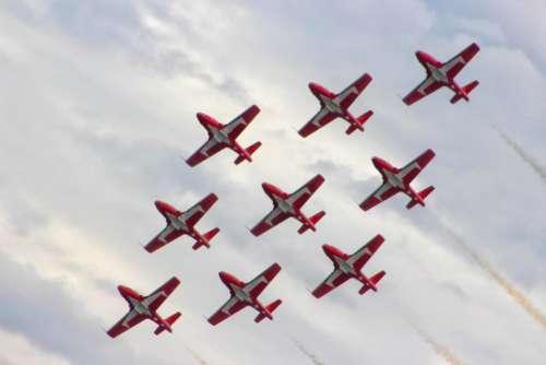 borden air show airplane fighter jet