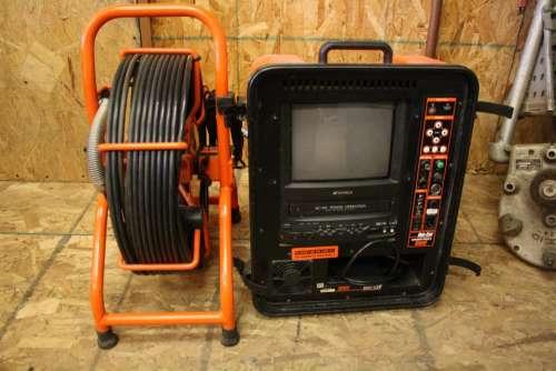 plumbing sewer camera tv screen camera tool