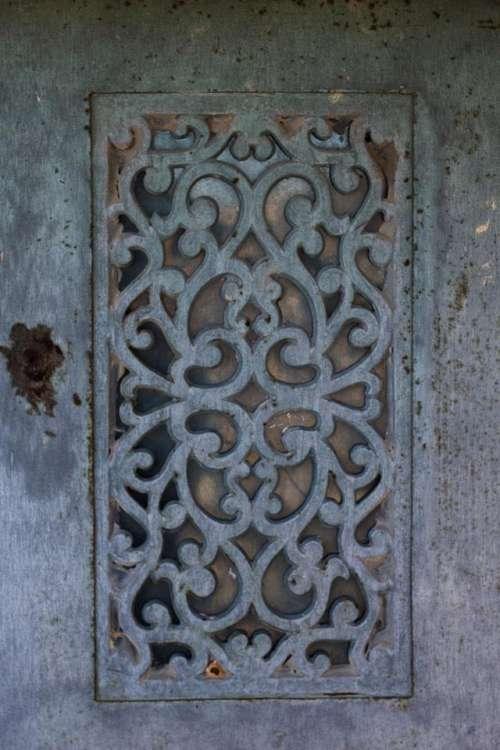 door antique building metal close
