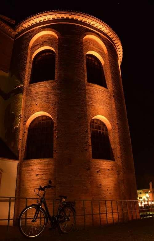 lights  nightshot architecture tower Trier