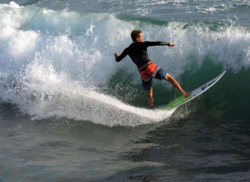 Surf surfer wave ocean California