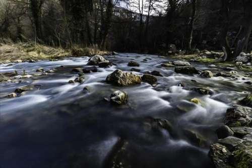River stream rapids