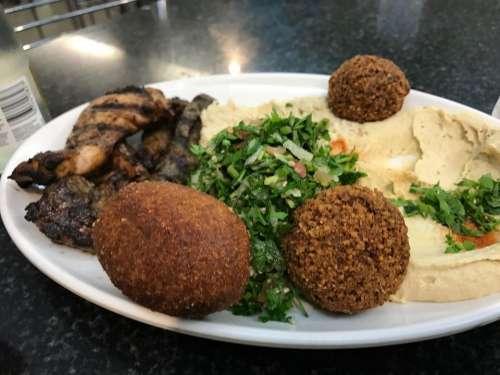food Falafels Tabbouleh Hummus Chicken
