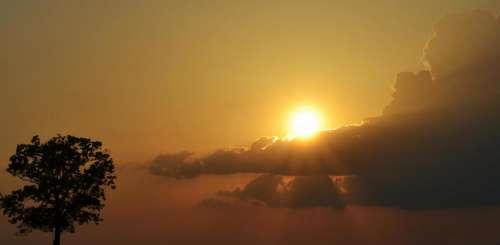 Sunshine sun sunlight clouds