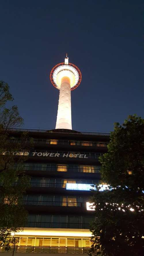 japan travel city kyoto tower
