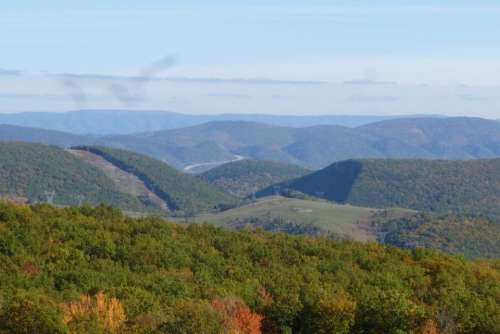 landscape West Virginia view mountains fall