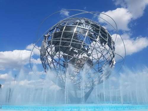 Globe world Unisphere Queens NYC
