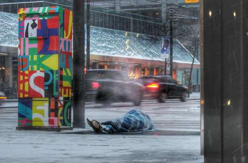 urban downtown core toronto homeless
