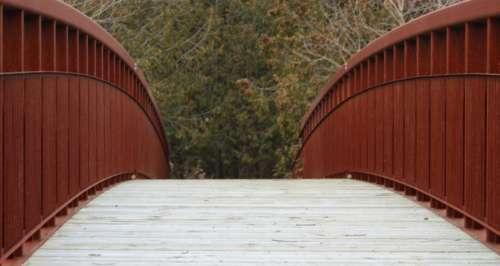 architecture bridge wooden steel curve