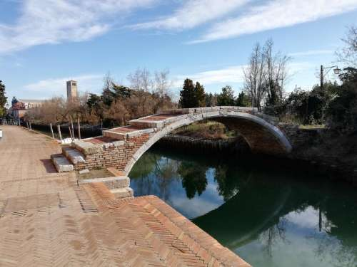 Torcello Venice Italy island bridge