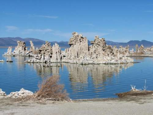 Mono Lake lake water blue tufa