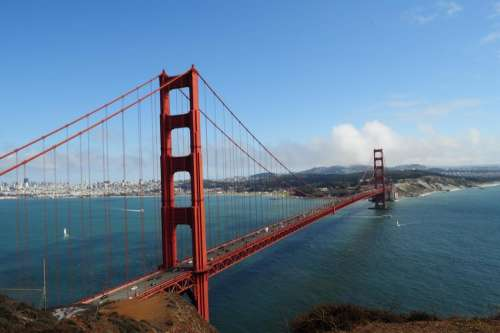 Golden Gate Bridge bridge San Francisco scenery scenic