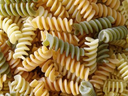 food pasta pastas of color green pastas orange pastas