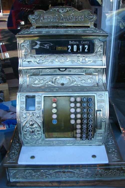 cash register money sale old vintage