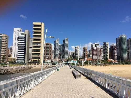 Canoa Quebrada Brazil city walkway