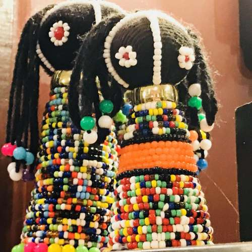 Africa sculpture doll beads