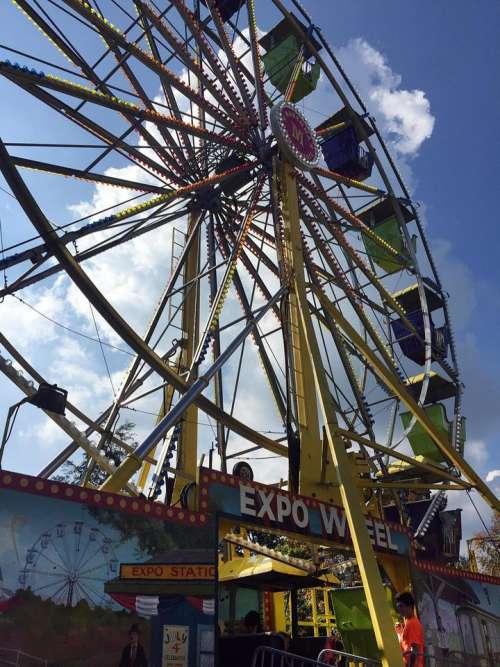 ferris wheel carnival festival expo wheel fair