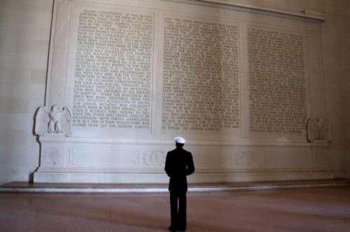 Tribute Military Navy Lincoln Memorial Washington DC