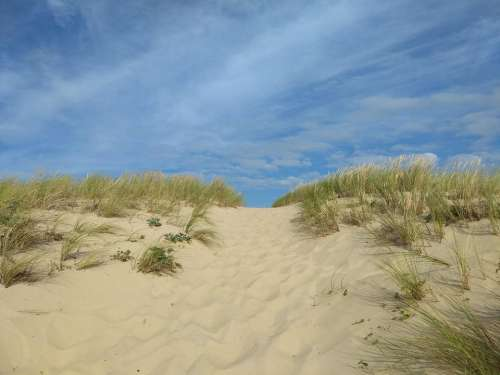 dune sea beach sand blue