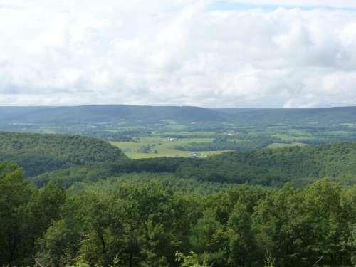 mountains landscape view summer green