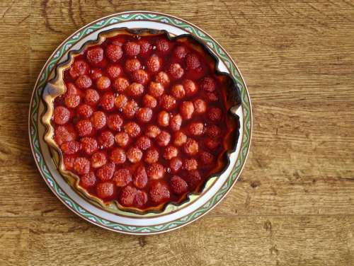 food fruits strawberry pie crust tart of strawberries