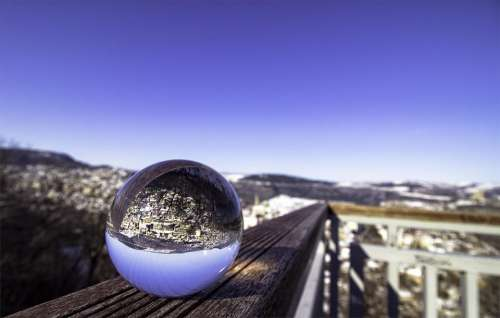 glass orb glass ball abstract perspective