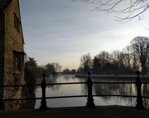 river thames riverside sunny winter abingdon