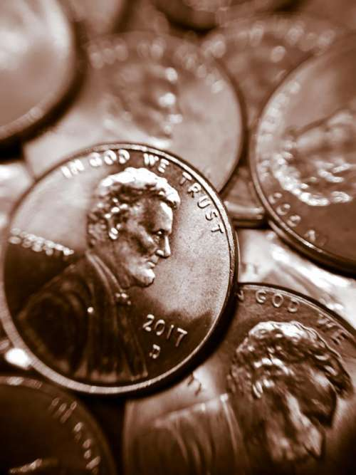 Penney penny coin money