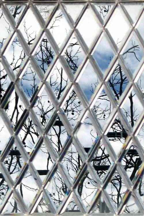 diamond lattice glass window windowpane