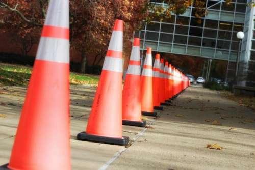 warning caution alert danger cones
