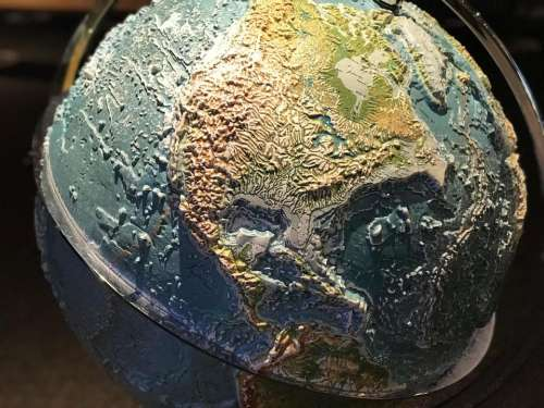 World earth planet globe