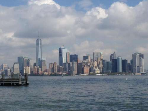 Manhattan New York City NYC skyline World Trade Center