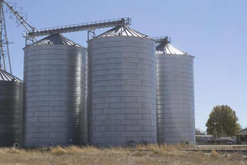 rural country grain silos silos agriculture