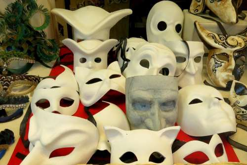 mask blank mask white blank disguise