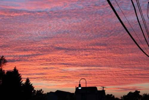 #sunset #houses