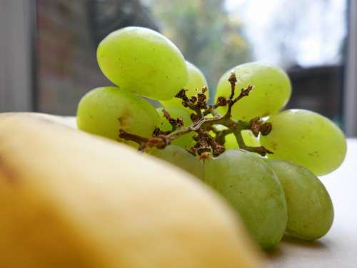 grapes banana fruit food healthy
