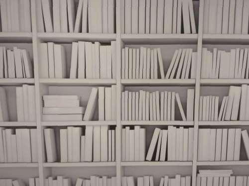 shelves white pattern modern office