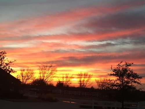 Sunrise sunset sun clouds sky