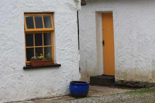 Ireland Irish Thatched Roof Cottage Door Window