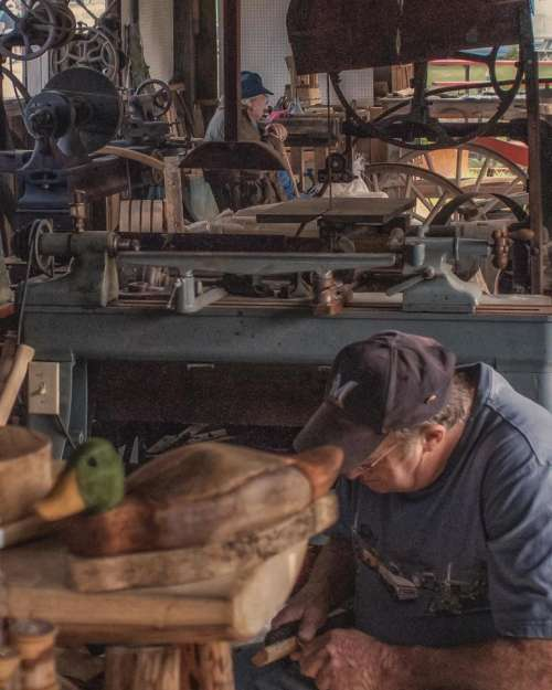 work working workshop woodshop wood carving