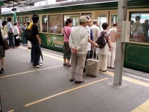 Japan Train Queue Commute Tube